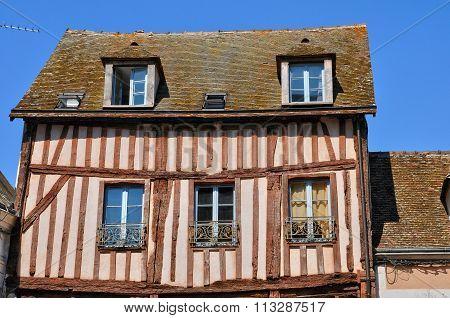 Old House In Nogent Le Roi In Eure Et Loir