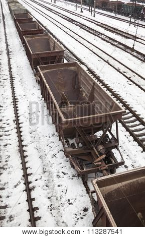 Empty Freight Wagons