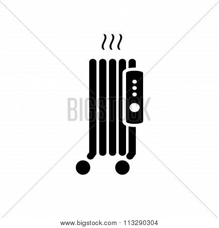 Electric Heater Icon.