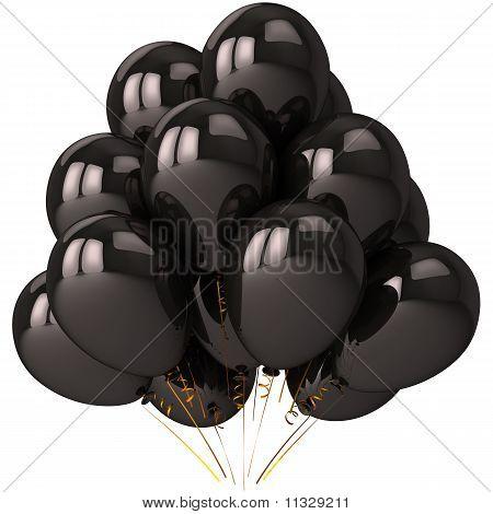 Helium Ballons schwarz (Hi-res)