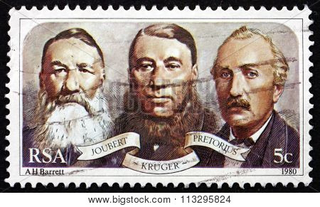 Postage Stamp South Africa 1980 First Leaders Of Triumvirate