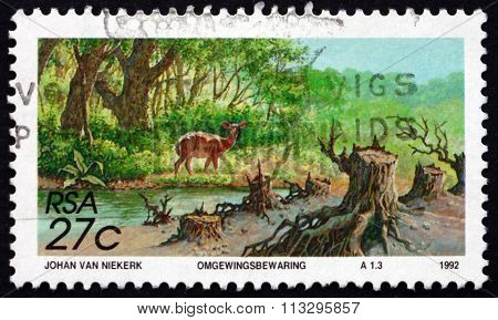 Postage Stamp South Africa 1992 Conservation, Prevent Erosion