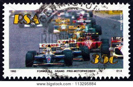 Postage Stamp South Africa 1992 Formula 1 Grand Prix