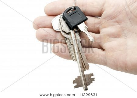 key on a hand