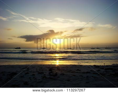 Sunrise On Tropical Sea