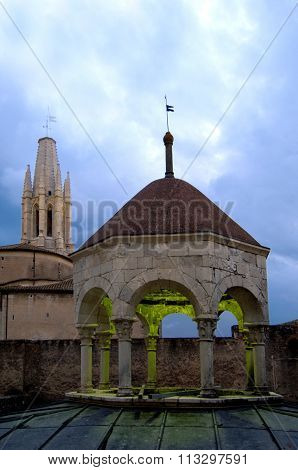 Arab Baths And Church Of Sant Feliu, Girona, Spain