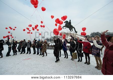 Launch Balls Hearts In The City Center