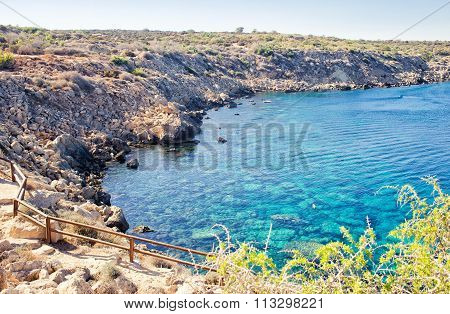 Scenic image of Blue caves, Greco Cape