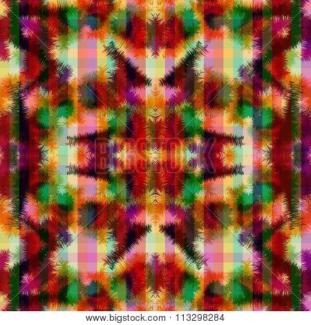 Seamless Pattern Hippie Abstract Tie Dye Rorschach