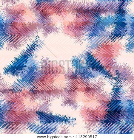 Seamless Pattern Hippie Tie Dye Rorschach Summer