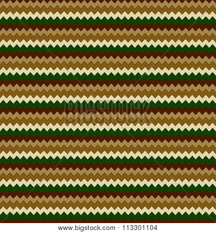 Abstract Seamless Pattern Of Colour Zigzag