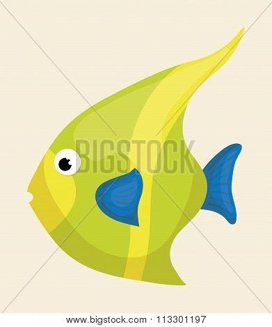 Sea fauna cartoon
