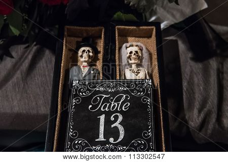 Day Of The Dead Table Number