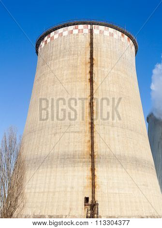 Cooling Tower Of The Power Plant