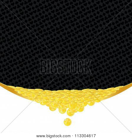 Golden Coins And Suits Gambling Background