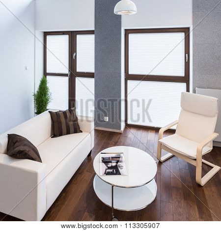 Huge windows in lounge