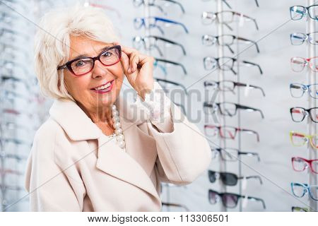 Lady With Eye Defect