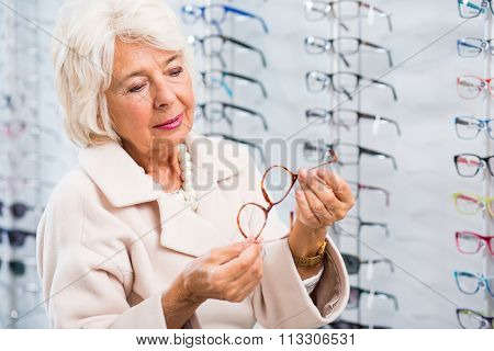 Lady With Sight Defect