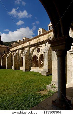Cloister Of Santa Maria De Iranzu, Navarra, Spain