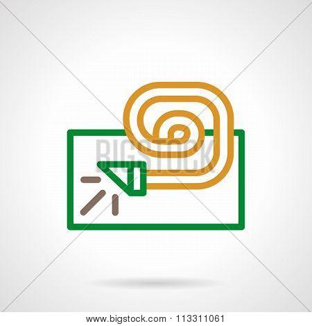 Festive accessory color simple line vector icon