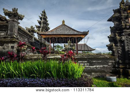 Balinese temple Pura Besakih at sunny day, Indonesia