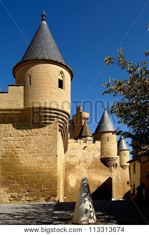 Castle-palace, Olite, Navarra, Spain