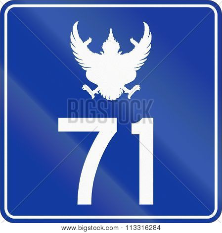 Road Shield Of A Toll Section Of Thailand Motorway