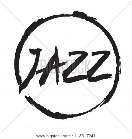 Black Vector Circles Frames. Text Jazz.