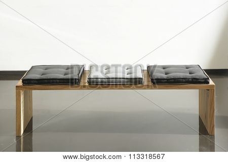 NEW FURNITURE LINE , MODERN DESIGN,  STRAIGHT LINES , MATERIALS : WOOD,  FABRIC . RECTANGLE BENCH