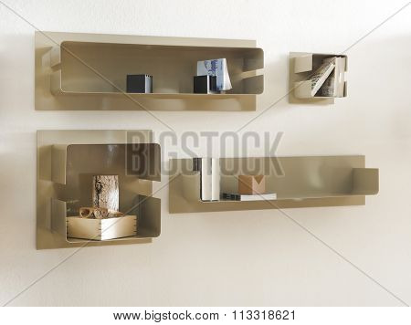 NEW FURNITURE LINE . MODERN DESIGN . STRAIGHT LINES . MATERIALS : ,METAL  . ITEMS : WALL SHELF