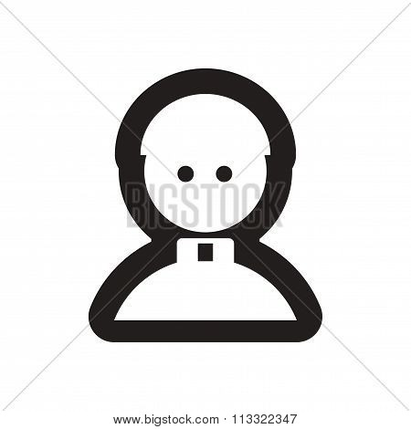 Flat icon in black and white Priest