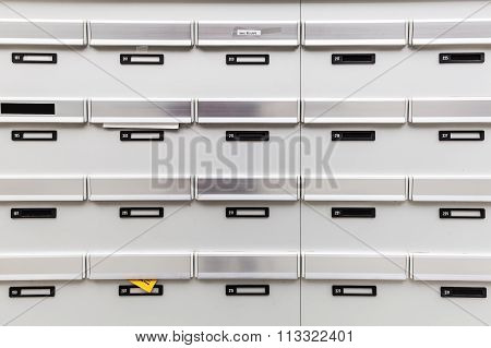 mailboxes of an apartment building