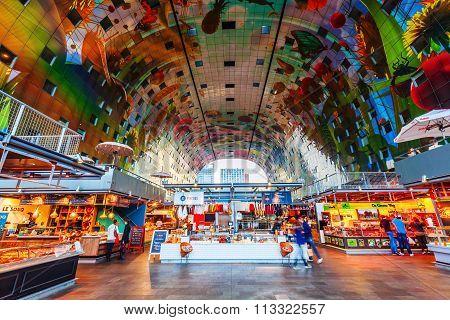 modern market hall in Rotterdam, Netherlands
