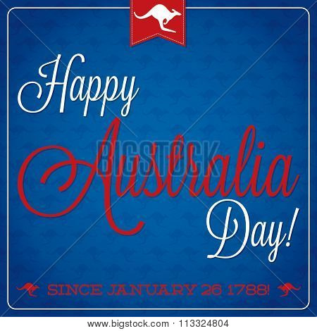 Elegant Typographic Australia Day Card In Vector Format.