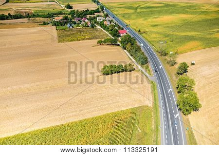 Aerial View On The Road
