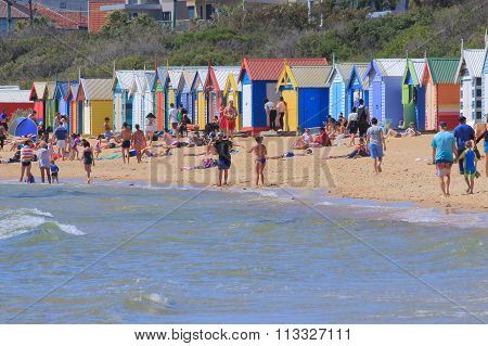 Melbourne beach bathing box Australia