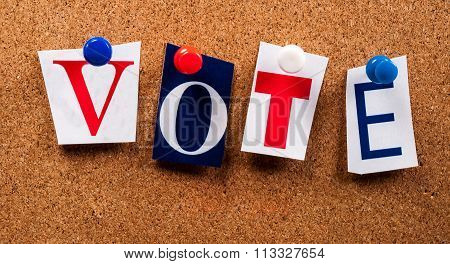 Vote Letters On Board