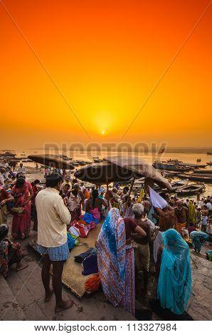 Ganga river in Varanasi