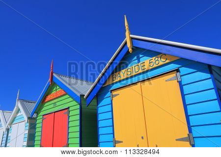Melbourne beach bathing box Australia