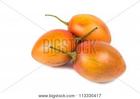 Fresh Tamarillo Fruits Also Known As Tomato With White Background
