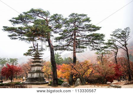 Pagoda Monument of Sinheungsa Temple in Seoraksan National Park