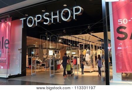 Topshop clothes store retail Australia