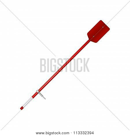 Old oar in red design