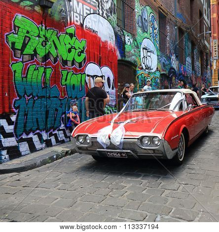 Classic car Graffiti street art Melbourne