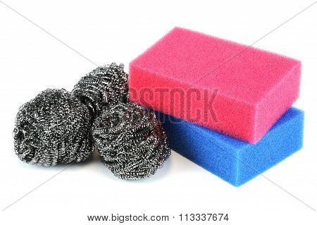 scouring sponge and pad
