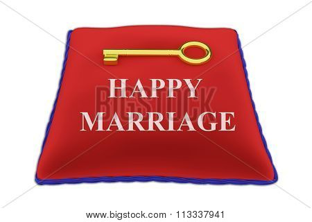 Key To Happy Marriage Concept