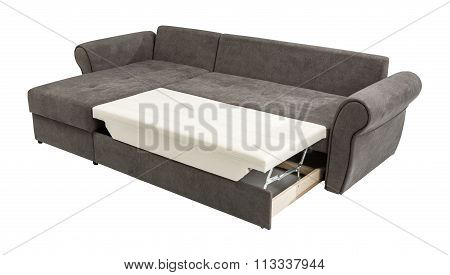 Upholstery Sofa Corner Set  Isolated On White Background With Clipping Path