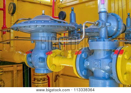 Piping Systems, Industrial Equipment, Interior - Gas Station Pipe Equipment