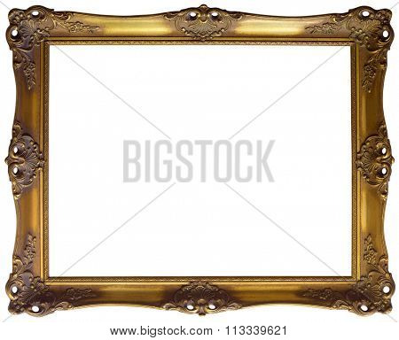 Ornate Golden Baroque Frame Clipping Path