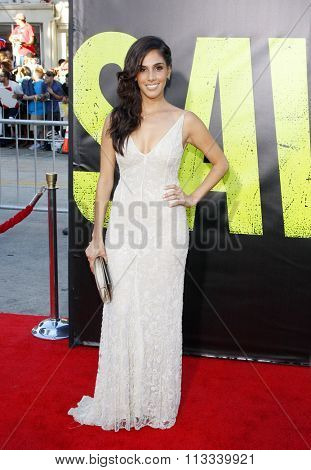 LOS ANGELES, CALIFORNIA - June 25, 2012. Sandra Echeverria at the Los Angeles premiere of 'Savages' held at the Mann Village Theatre, Los Angeles.